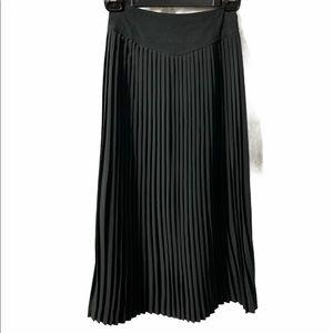Vintage Pleated Long Skirt